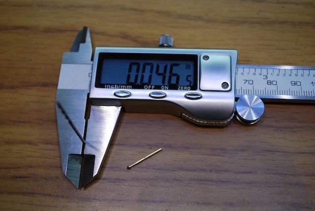 Measure the drill bit